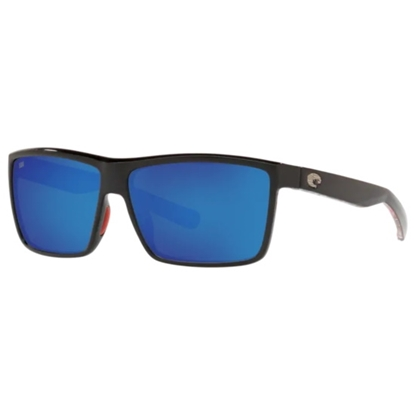 Picture of Costa Del Mar Rinconcito - Shiny USA Black with Blue Lens