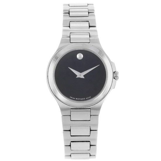 Picture of Movado Ladies' Corporate Exclusive Steel Watch with Black Dial