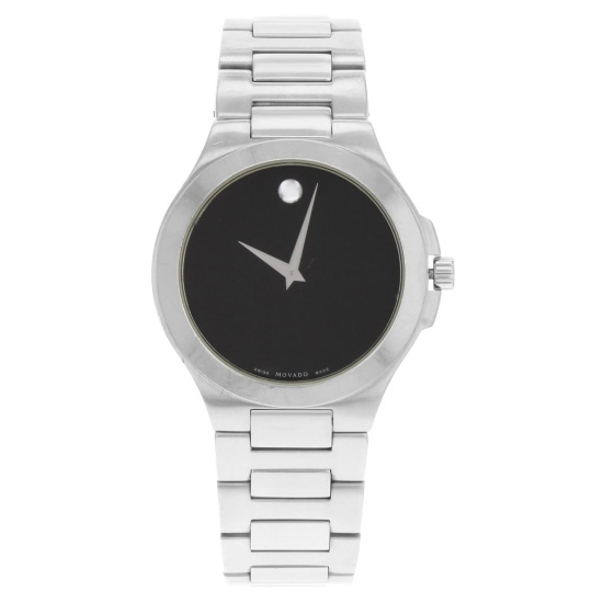 Picture of Movado Men's Corporate Exclusive Steel Watch with Black Dial