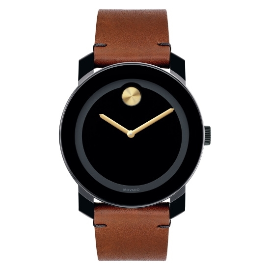 Picture of Movado Bold Gents Watch with Brown Leather Strap