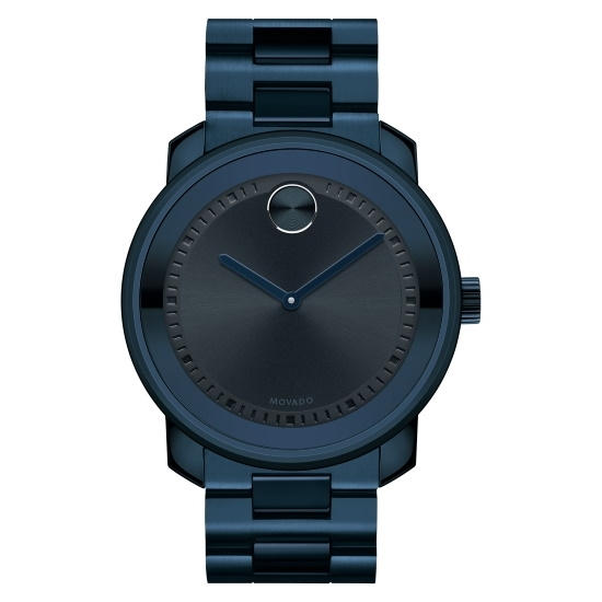 Picture of Movado Bold Gents Blue Stainless Steel Watch