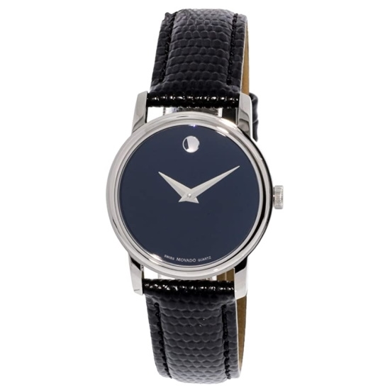 Picture of Movado Classic Museum Ladies Watch with Black Dial & Strap