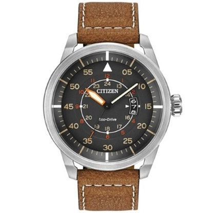 Picture of Citizen Men's Avion Watch with Brown Leather Strap