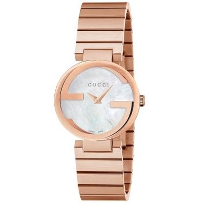 Picture of Gucci Interlocking Rose Gold Stainless Steel Watch w/ MOP Dial