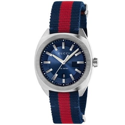 Picture of Gucci GG2570 Large Blue & Red Nylon with Navy Dial