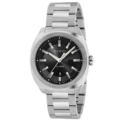 Picture of Gucci GG2570 Stainless Steel Watch with Black Dial