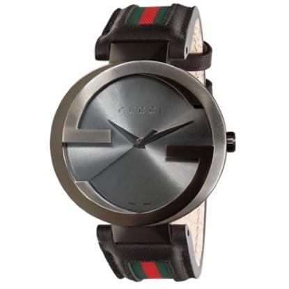 Picture of Gucci Interlocking Quartz XL Watch with Black/Green/Red Strap