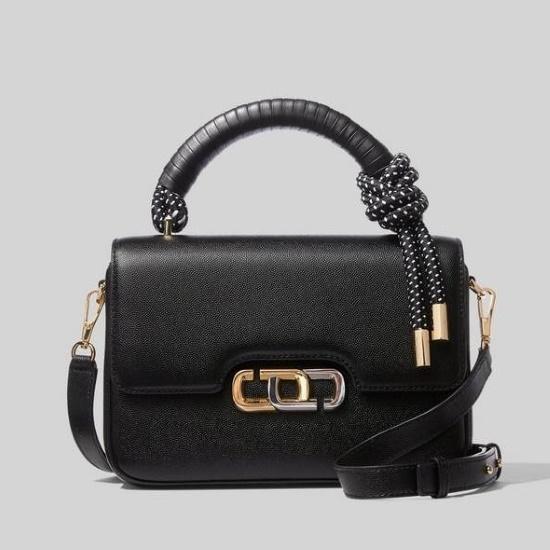 Picture of Marc Jacobs J Link Twist Shoulder Bag - Black/White