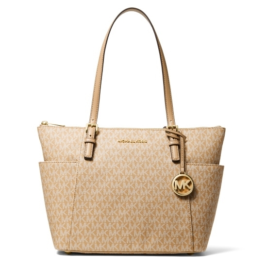 Picture of Michael Kors Jet Set Signature E/W Top-Zip Tote - Camel