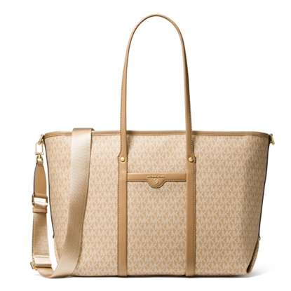 Picture of Michael Kors Beck Signature Large Tote - Camel