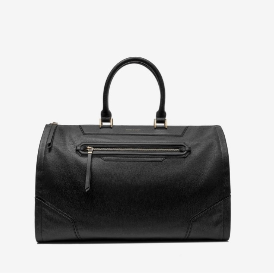 Picture of Hook & Albert Women's Black Leather Garment Weekender