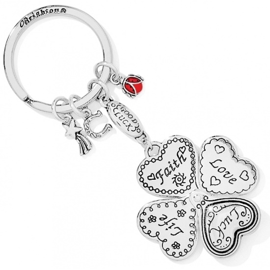 Picture of Brighton Lucky Clover Heart Fob