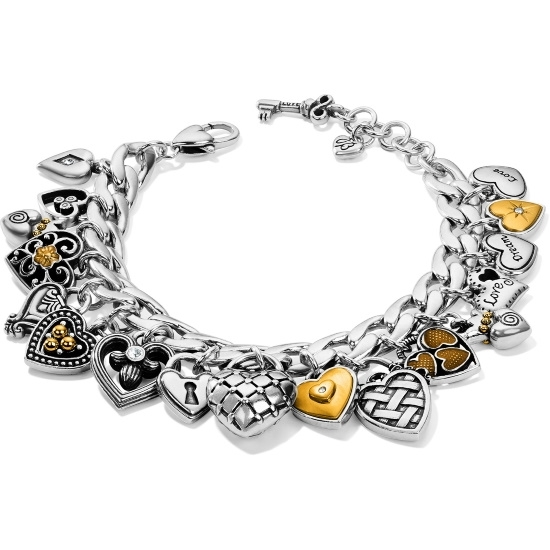 Picture of Brighton One Heart Charm Bracelet