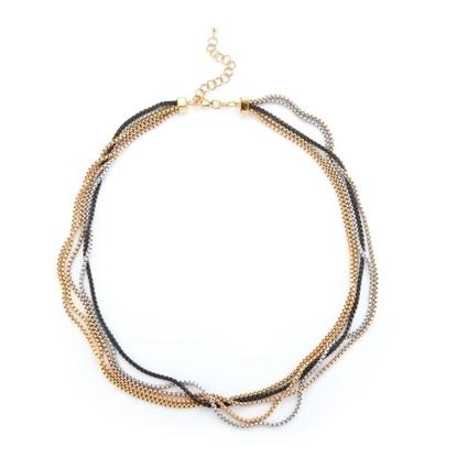Picture of ALOR Multicolor Chain Reaction Mini Chain Necklace