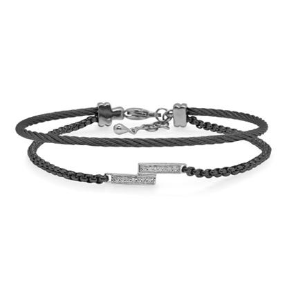 Picture of ALOR Black Chain 7-Cable Intermix Bracelet
