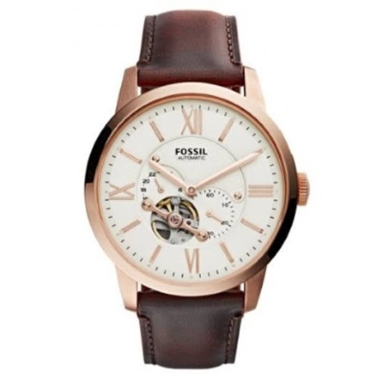 Picture of Fossil Townsman Automatic Watch with Brown Leather Strap