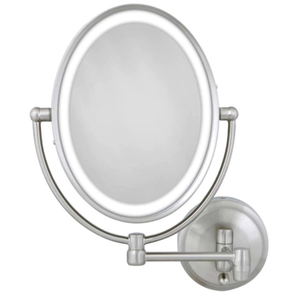 Picture of Zadro LED Lighted Oval Wall Mount Mirror - Satin