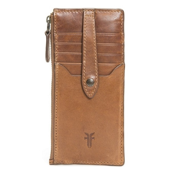 Picture of Frye Melissa Snap Card Wallet - Cognac
