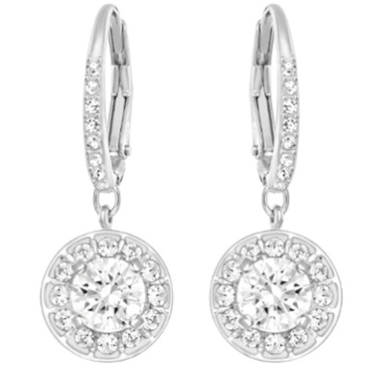 Picture of Swarovski Attract Light Crystal Earrings - Rhodium