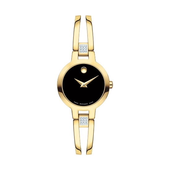 Picture of Movado Amorosa Ladies' Gold-Tone Watch with Diamonds