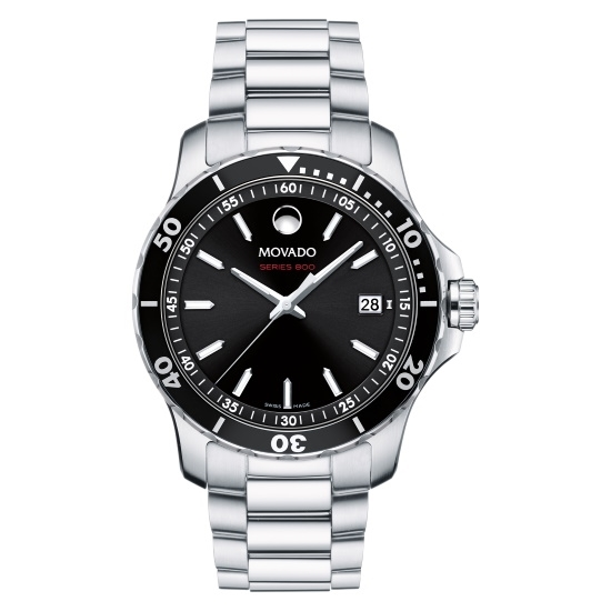 Picture of Movado Series 800 Gents Watch with Black Dial