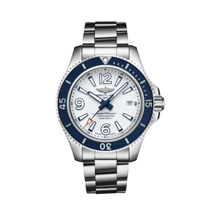 Picture of Breitling Superocean Auto 42 - Steel with White/Blue Dial