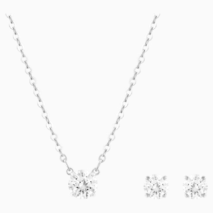 Picture of Swarovski Attract Necklace & Earring Set - Crystal/Rhodium