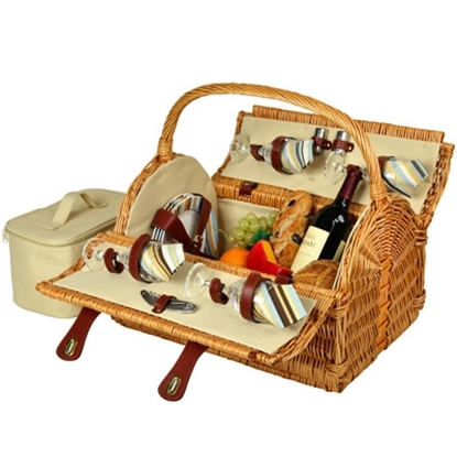 Picture of Picnic at Ascot™ Yorkshire Picnic Basket for Four