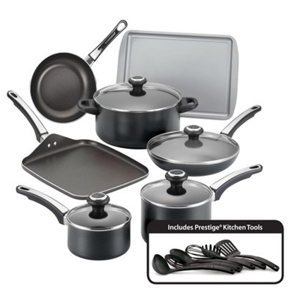 Picture of Farberware High Performance 17-Piece Cookware Set - Black