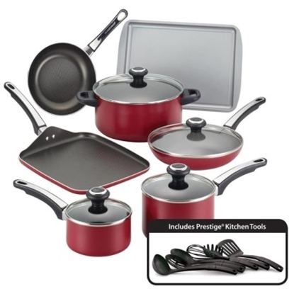 Picture of Farberware High Performance 17-Piece Cookware Set - Red