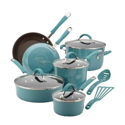 Picture of Rachael Ray Cucina 12PC Porcelain Cookware Set - Agave Blue