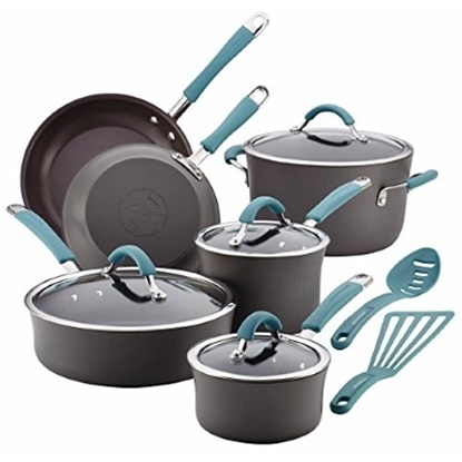 Picture of Rachael Ray Cucina Hard Anodized 12PC Cookware - Agave Blue
