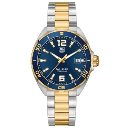 Picture of TAG Heuer Formula 1 Silver & Gold Watch with Blue Dial