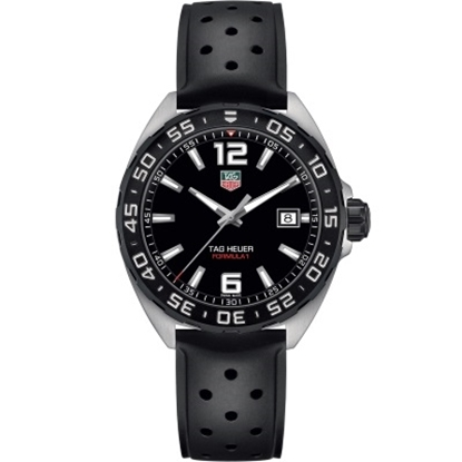 Picture of TAG Heuer Formula 1 Black Rubber Strap Watch with Black Dial