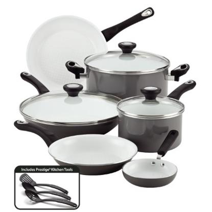 Picture of Farberware® Purecook Nonstick Ceramic 12PC Cookware - Gray