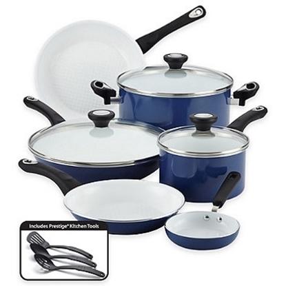 Picture of Farberware® Purecook Nonstick Ceramic 12PC Cookware - Blue
