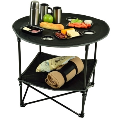 Picture of Picnic at Ascot™ Canvas Folding Picnic Table - Black