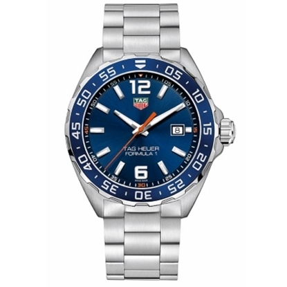 Picture of TAG Heuer Formula 1 Quartz Stainless Steel Watch w/ Blue Dial