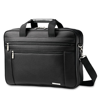 Picture of Samsonite Classic Business Gusset Laptop Bag - Black