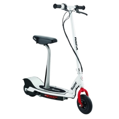 Picture of Razor® E200S Seated Electric Scooter - White/Red