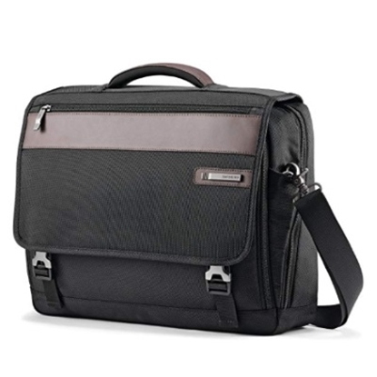 Picture of Samsonite Kombi Flapover Briefcase - Black/Brown