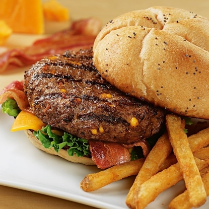 Picture of Kansas City Steaks 4.5oz Cheddar Bacon Steakburgers- Set of 12