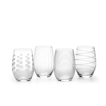 Picture of Mikasa Cheers 17oz. Stemless Wine Glasses - Set of 4