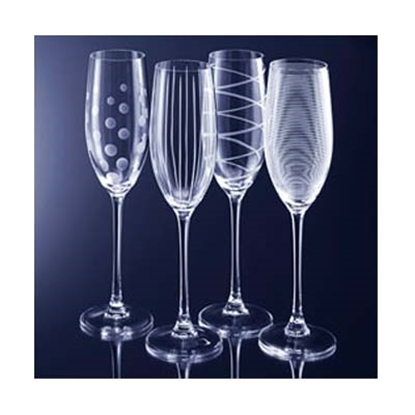 """Picture of Mikasa® """"Cheers"""" Flutes - Set of 4"""