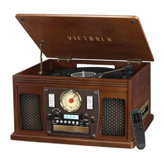Picture of Victrola 8-in-1 Bluetooth Record Player with Built-in Speakers