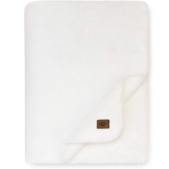 Picture of UGG White Cap Throw Blanket - Snow