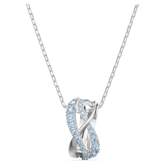 Picture of Swarovski Twist Row Pendant - Blue