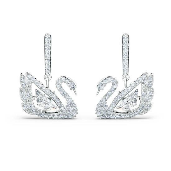 Picture of Swarovski Dancing Swan Pierced Earrings