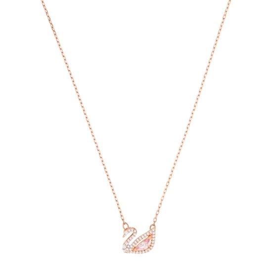 Picture of Swarovski Dazzling Swan Necklace - Rose Gold