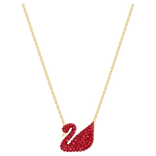 Picture of Swarovski Iconic Swan Pendant - Red/Gold